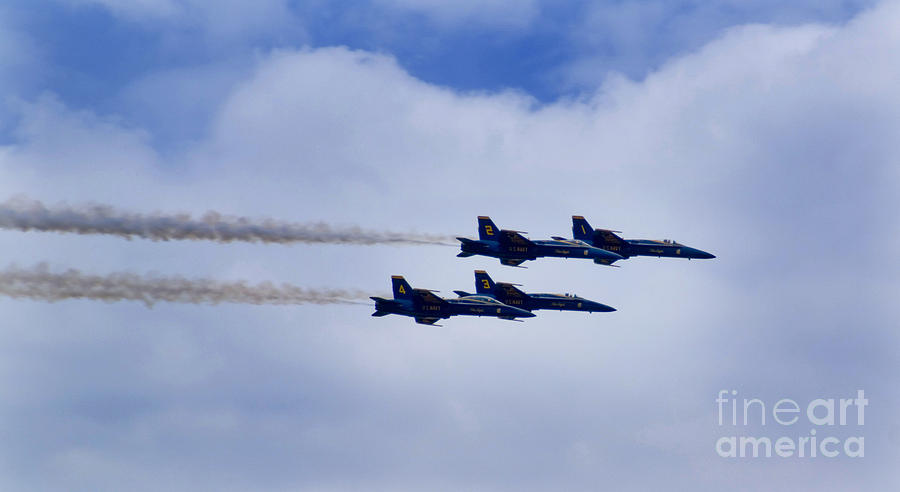 Plane Photograph - The Blue Angels by Benjamin Reed