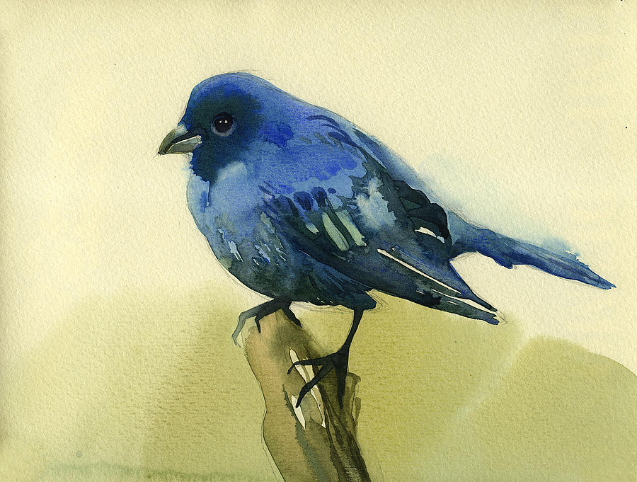 Nature Painting - The Blue Birdie by Tatiana Zubareva