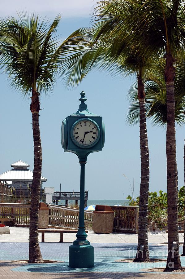 Clock Photograph - The Blue Clock by Kathleen Struckle
