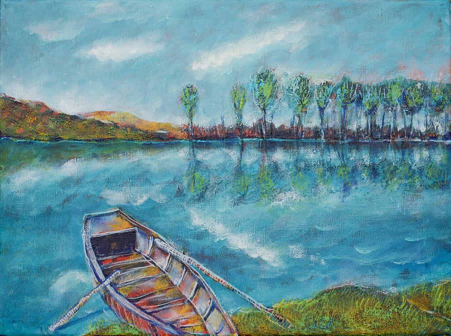 The Blue Danube Is Turquoise Painting