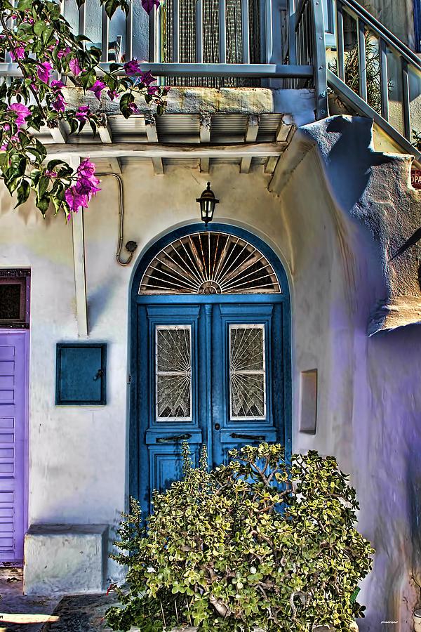 The Blue Door-Santorini by Tom Prendergast