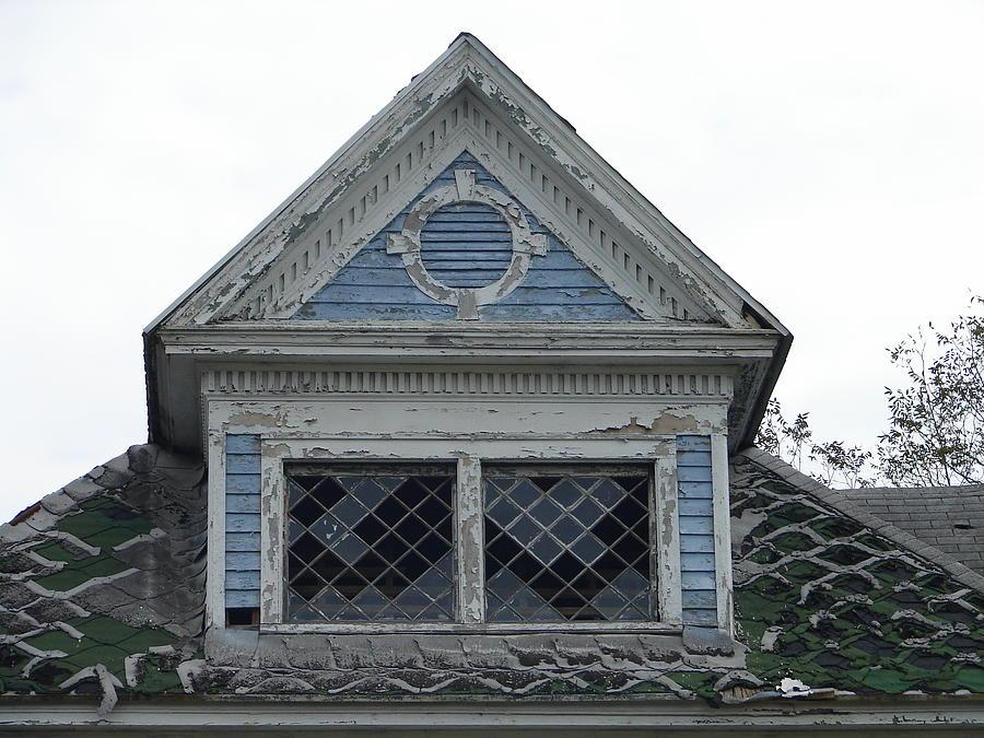 House Photograph - The Blue Gable by Lew Davis