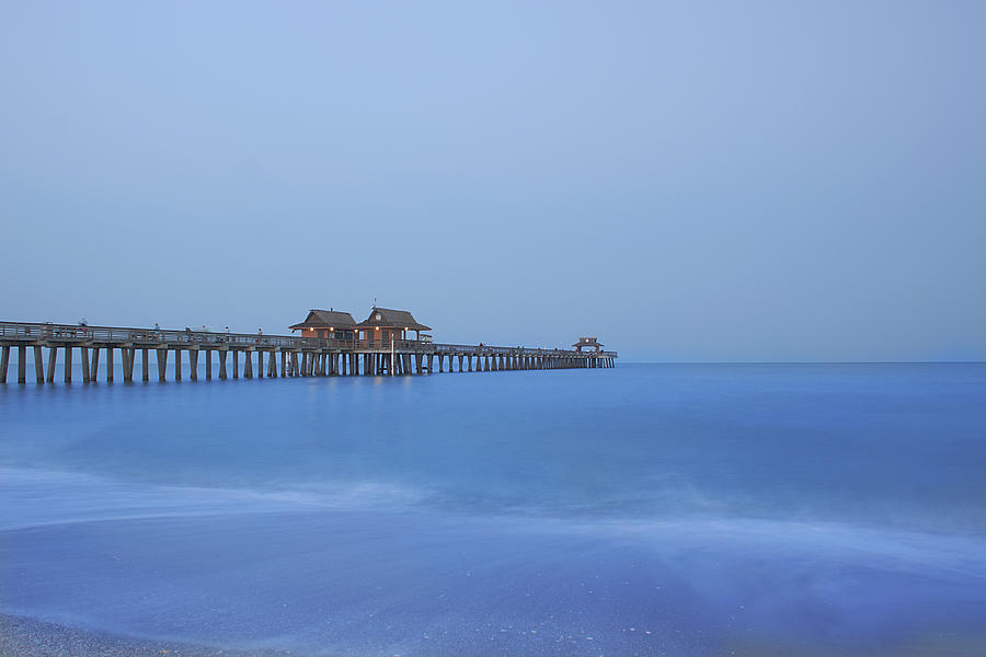 Pier Photograph - The Blue Hour by Kim Hojnacki