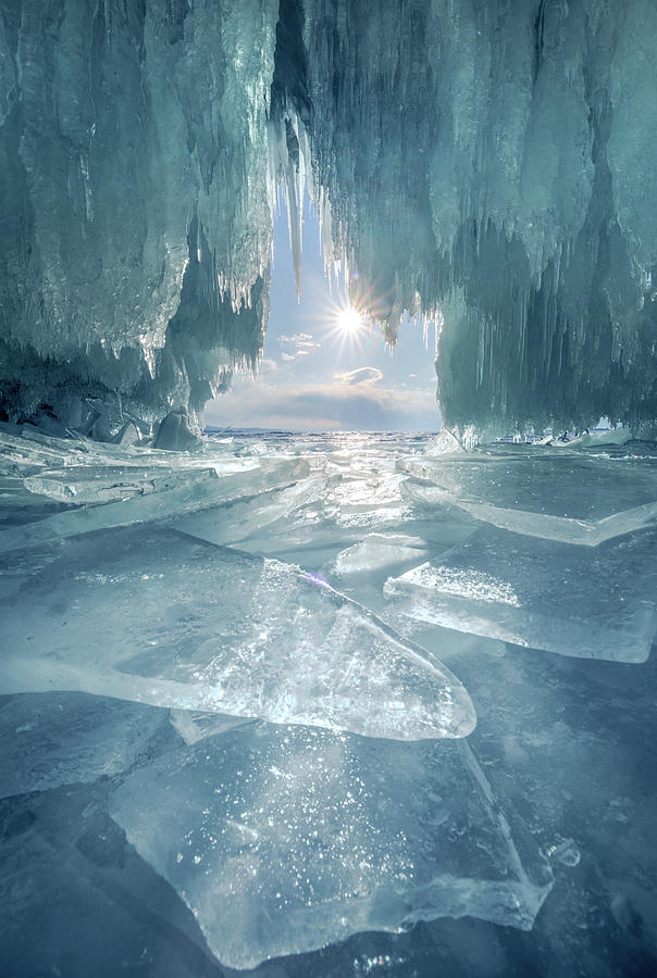 The Blue Ice Cave At Lake Baikal Photograph by Coolbiere Photograph