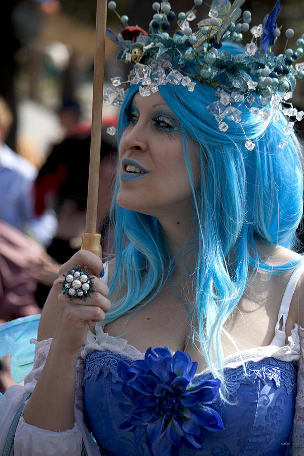 The Blue Lady Photograph - The Blue Lady by Ivete Basso Photography