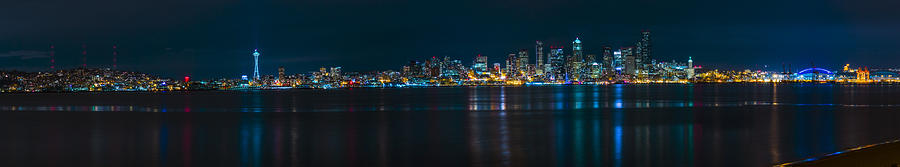 Seattle Photograph - The Blue Monster by James Heckt