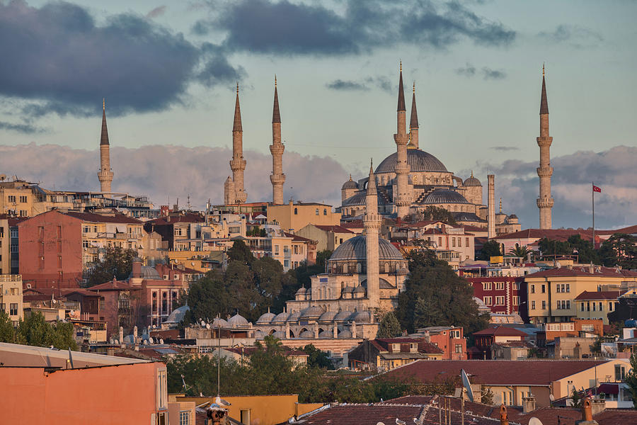 The Blue Mosque At Sunset Photograph by Salvator Barki