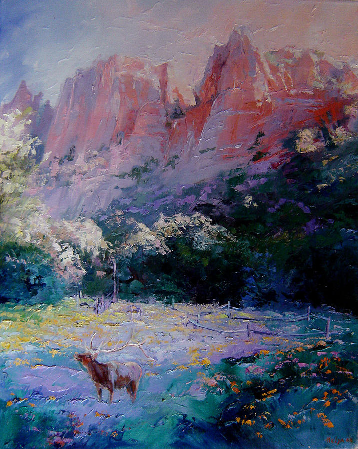 Painting Painting - The Blue by Nelya Shenklyarska