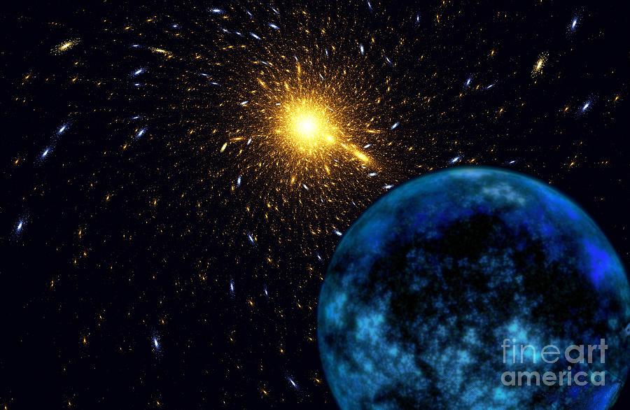 Blue Planet Digital Art - The Blue Planet by Klara Acel