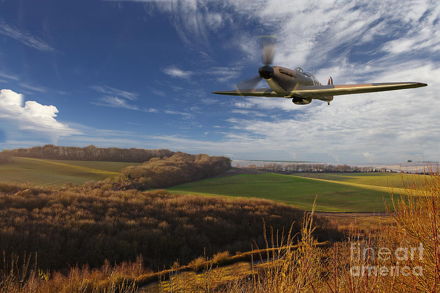 Hurricane Photograph - The Blue Skies Of Britain. by Pete Reynolds
