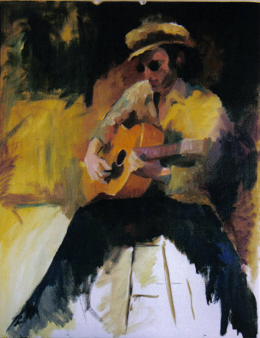 Man Painting - The Blues Man by John L Campbell