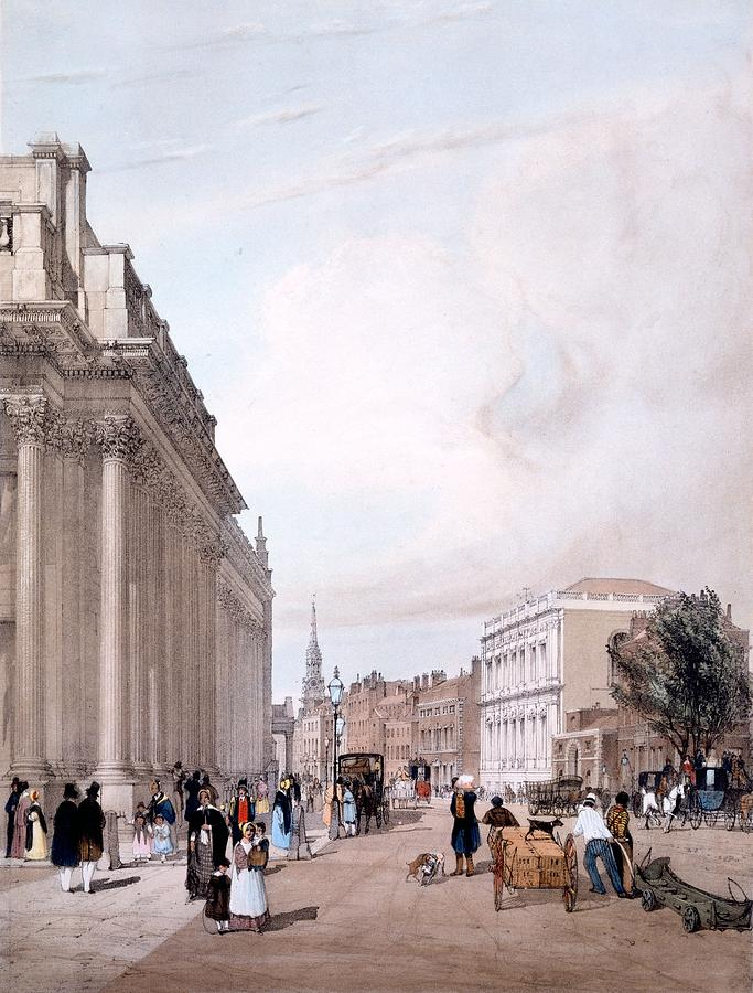 Board Of Trade Drawing - The Board Of Trade, Whitehall by Thomas Shotter Boys