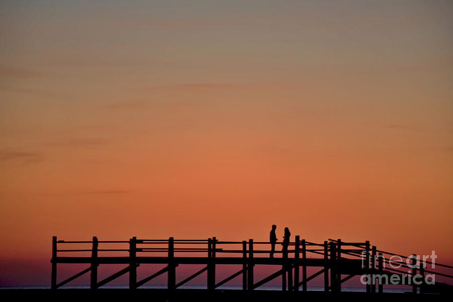 Afterglow Photograph - The Boardwalk by Heiko Koehrer-Wagner
