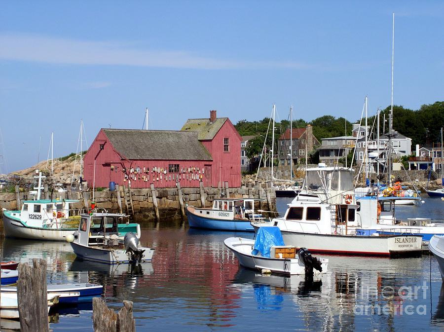 The Boat Yard At Rockport Photograph