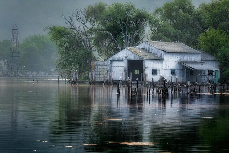 Watkins Glen Photograph - The Boathouse by Bill Wakeley