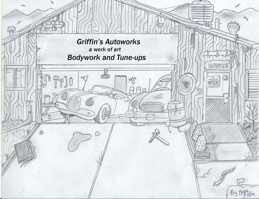 The Body Shop That Was Drawing By Gerald Griffin
