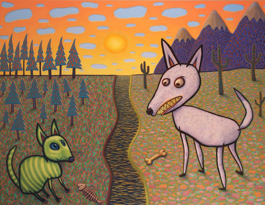 Border Painting - The Border by James W Johnson