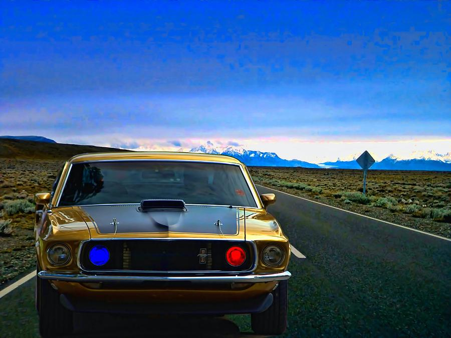 The Boss 302 Mustang Highway Patrol Car Photograph By Tim