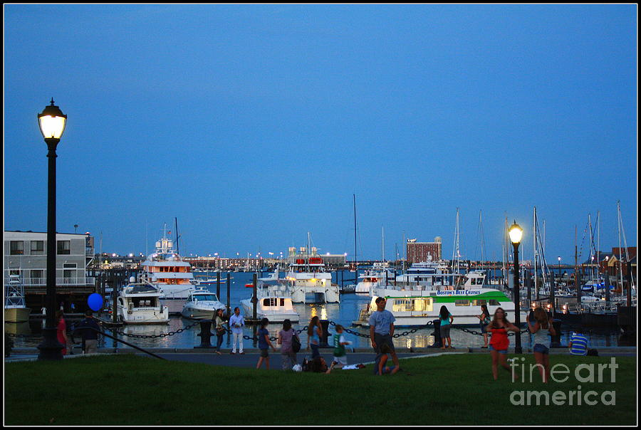 The Boston Wharf In The Early Evening Photograph by Dora Sofia Caputo Photographic Art and Design