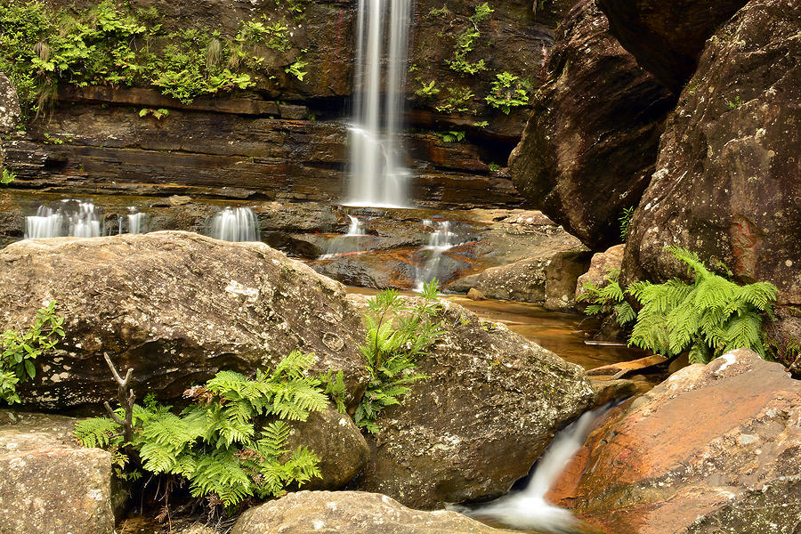 Landscape Photograph - The Bottom Falls by Terry Everson