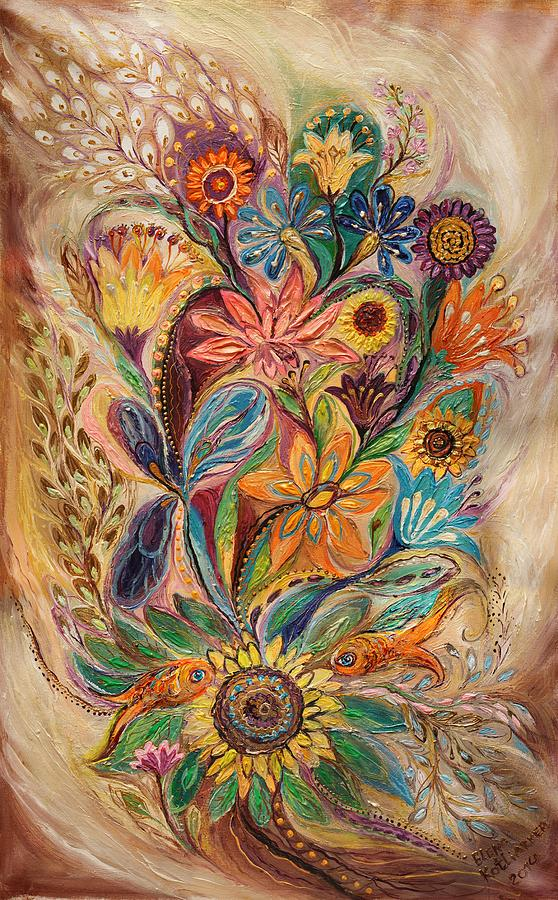 Judaica Store Painting - The Bouquet Of Life by Elena Kotliarker