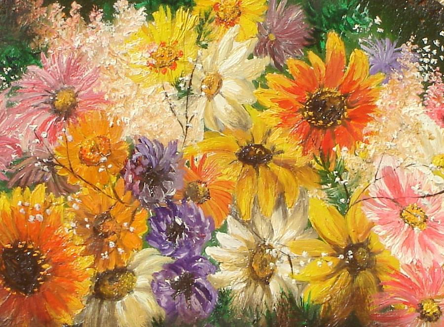 Flowers Painting - The Bouquet by Sorin Apostolescu