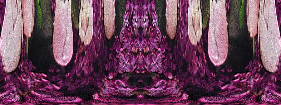Abstract Digital Art - The Bouquet Unleashed 39 by Tim Allen