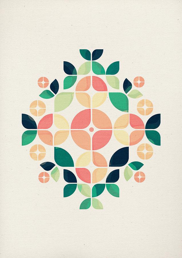 Floral Digital Art - The Bouquet by Vess DSign