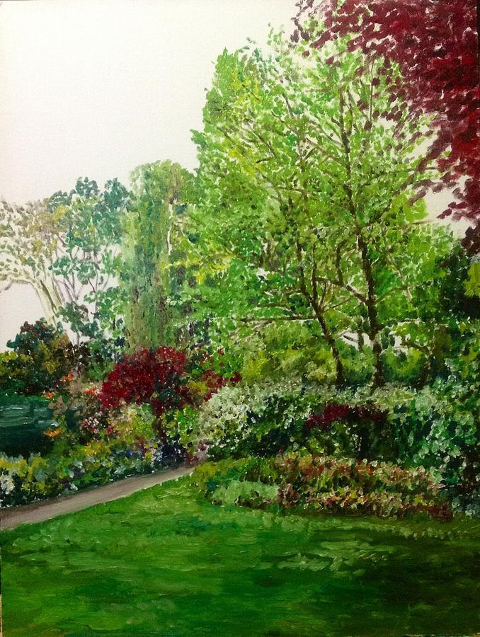 Garden Painting - The Bower by Aditi Bhatt