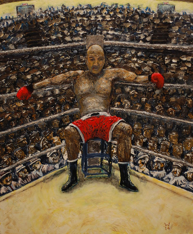 Boxer Painting - The Boxer by Richard Wandell