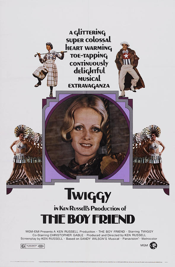 1970s Movies Photograph - The Boy Friend, Us Poster Art, Twiggy by Everett