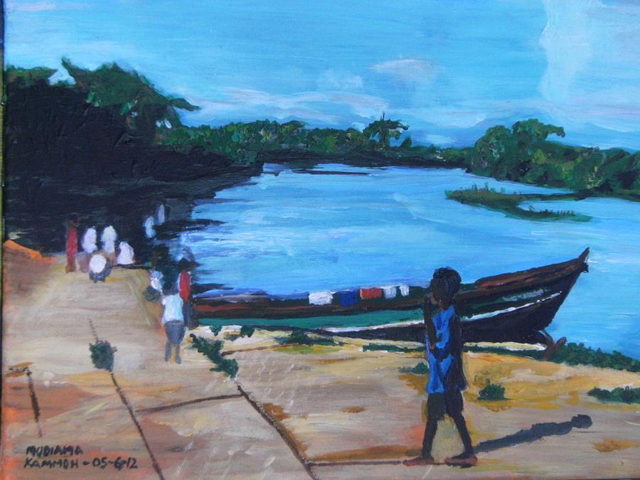 The Boy Porter  Sierra Leone Painting by Mudiama Kammoh