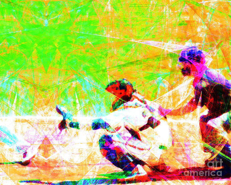 Baseball Photograph - The Boys Of Summer 5d28228 The Catcher by Wingsdomain Art and Photography