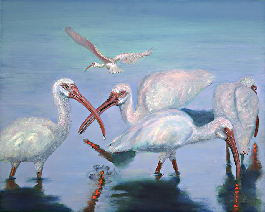 Water Fowl Painting - The Boyz by Peter Bonk