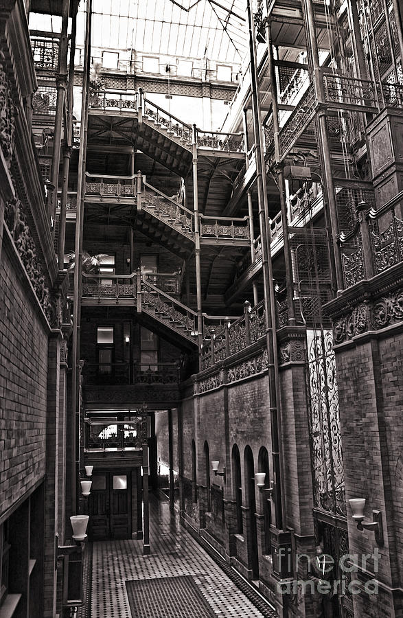 Los Angeles Photograph - The Bradbury Building by Gregory Dyer