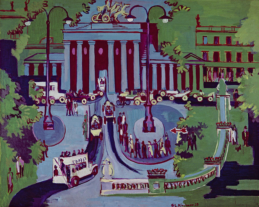 Brandenburger Tor Painting - The Brandenburg Gate Berlin by Ernst Ludwig Kirchner