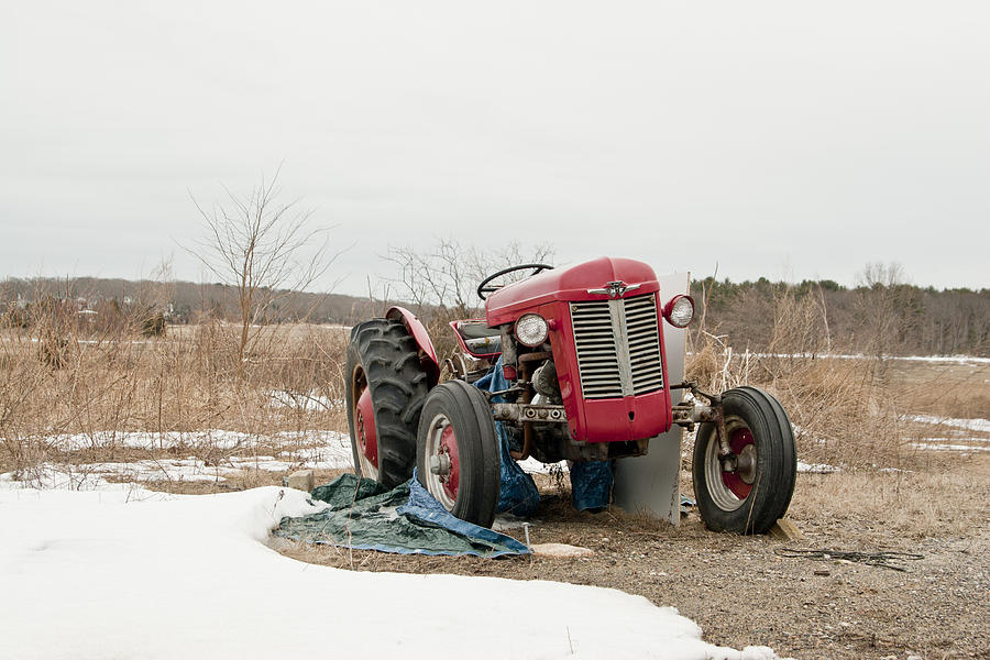 Tractor Photograph - The Brave Little Tractor by Eugene Bergeron