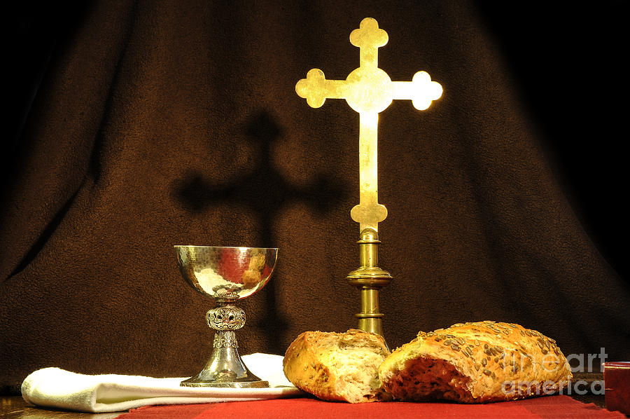 Chalice Photograph - The Bread Of Life by Donald Davis