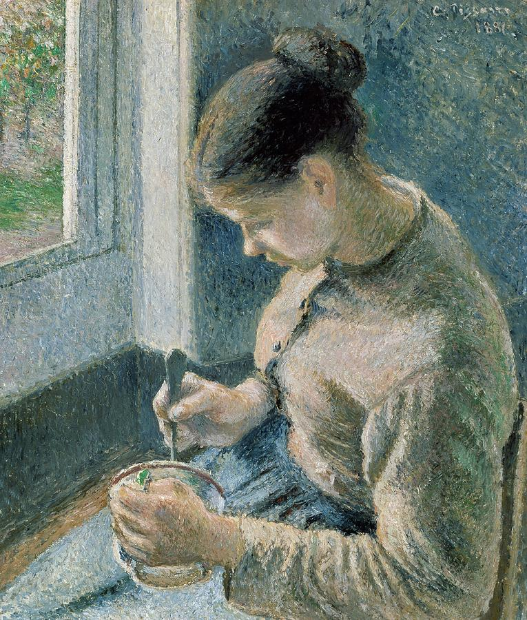Art Painting - The Breakfast by Camille Pissarro