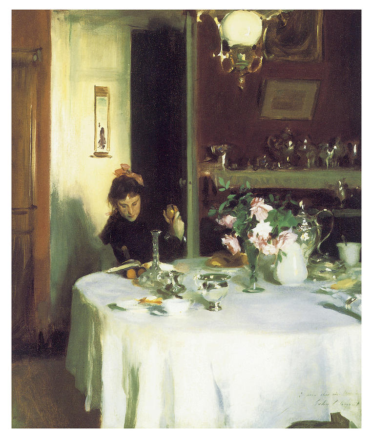 John Singer Sargent Painting - The Breakfast Table by John Singer Sargent