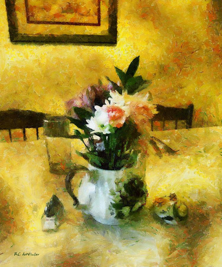 Still Life Painting - The Breakfast Table by RC DeWinter