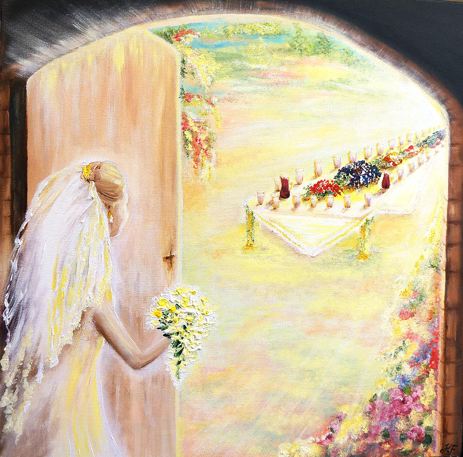 The Bride Painting by Helene Fallstrom