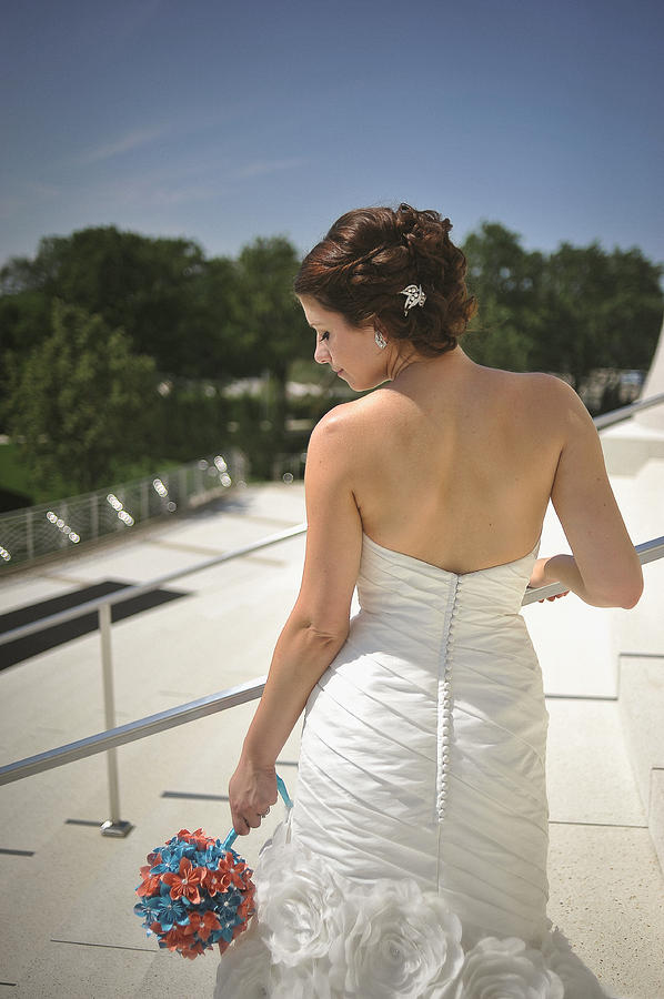 Bride Photograph - The Brides Back by Mike Hope