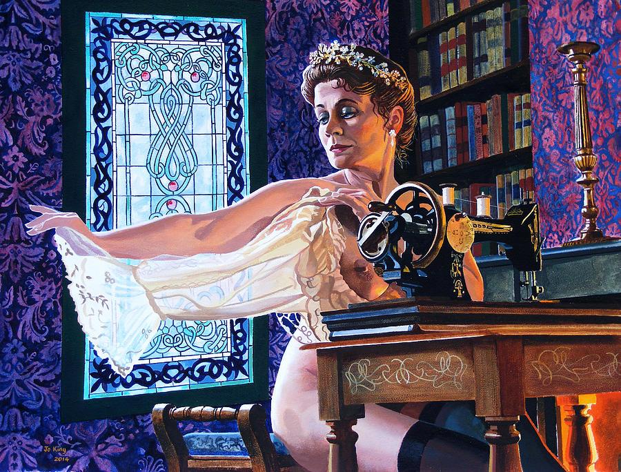 Bridesmaid Painting - The Bridesmaid by Jo King