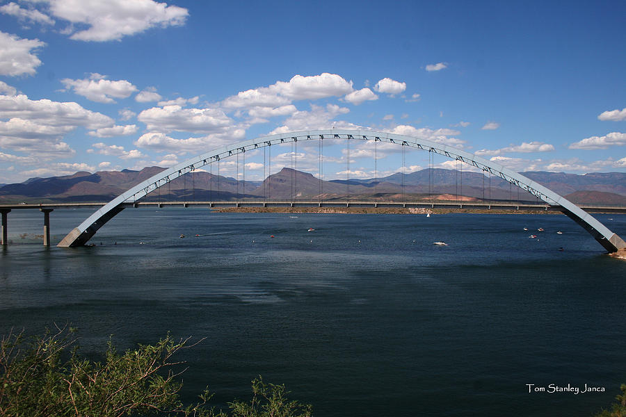Arizona Photograph - The Bridge At Roosevelt Lake by Tom Janca