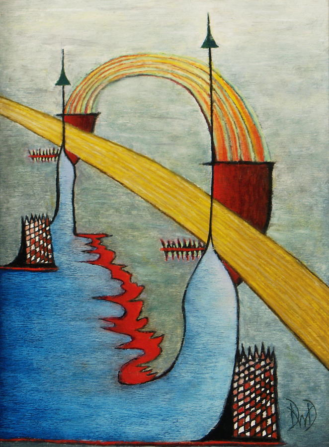 Abstract Painting - The Bridge by David Douthat