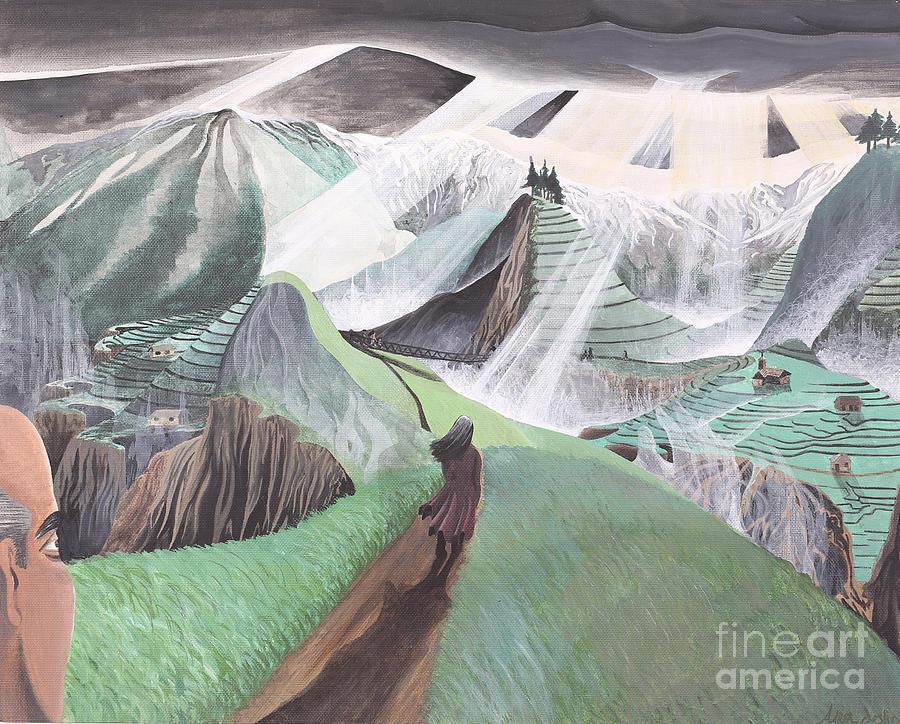 The Bridge Of San Luis Rey Vs. Ts Elliot Painting by Aaron Joslin