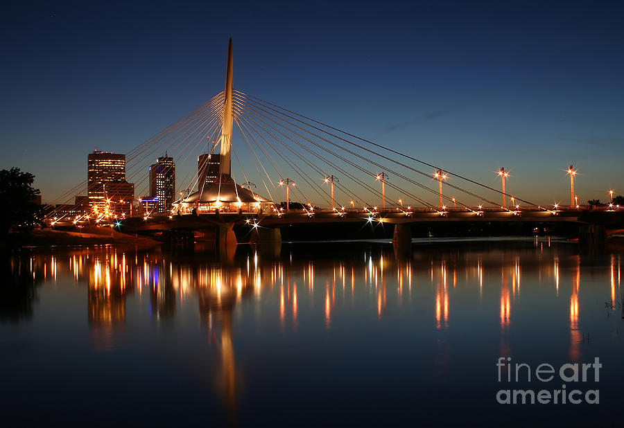 Winnipeg Photograph - The Bridge Over Calm Waters by Teresa Zieba