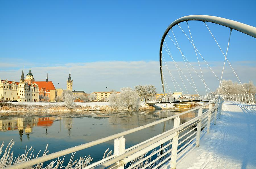 Bridge Photograph - The Bridge Over The River In Winter by Gynt