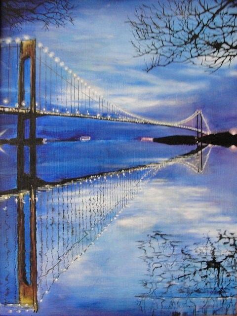 Bridge Painting - The Bridge by Sergey Selivanov